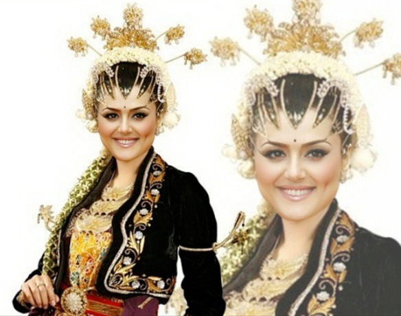 Preity Zinta the Javanese Bride [via Instagram]