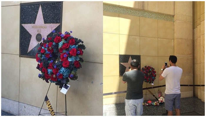 Nama Muhammad Ali di Walk of Fame [image source]